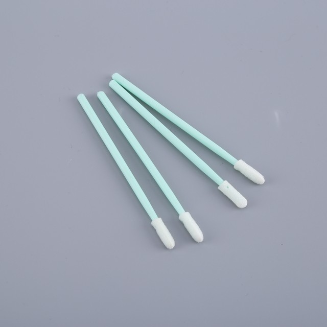 Electronic Assembly ESD Safe Swabs Disposable White Foam Green Stick supplier