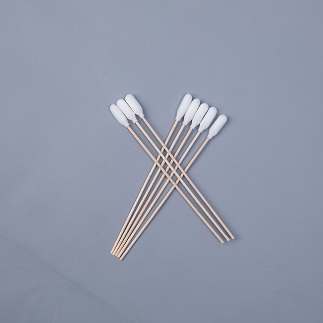 Disposal Wood Long Stick Cotton Swabs , Sterile Medicated Cotton Swabs supplier