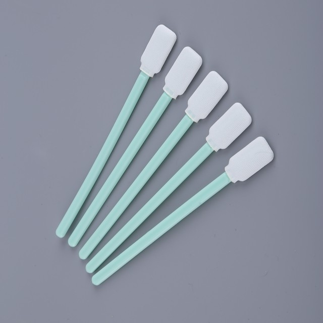 Lint Free Polyester Swab Stick Non Woven Head For Inkjet Printer Cleaning supplier